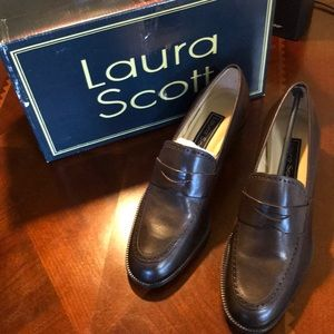 NWT Laura Scott Stanford V. Brown Leather Shoes